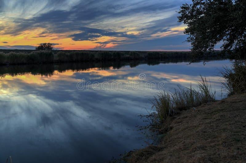Ramo paludoso di fiume Lafourche, Luisiana immagine stock libera da diritti