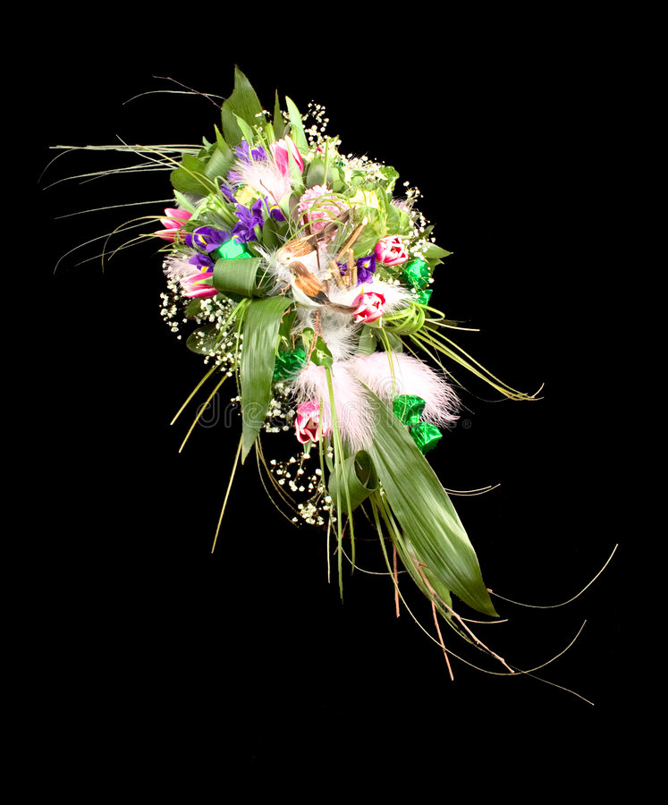 Ramo rico y hermoso de diversas flores imagen de archivo libre de regalías
