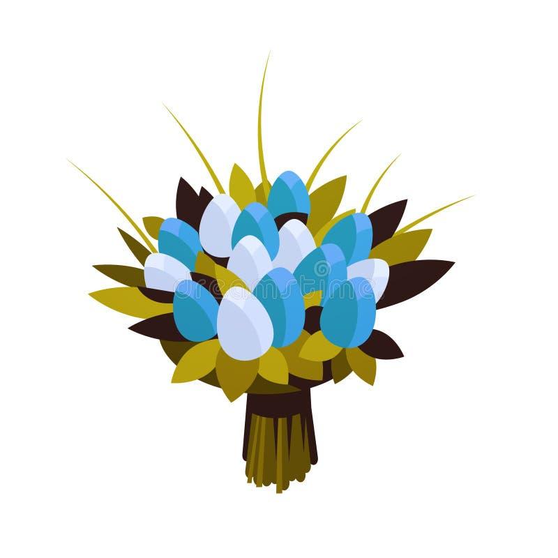 Ramo tulipán flores de floristry hermoso del concepto para mujer feliz del día del 8 de marzo para el plano blanco del fondo de l stock de ilustración