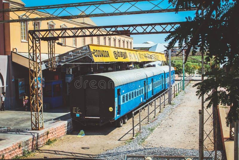 Ramoji Film city Hyderabad Indian Railway moke train stock images