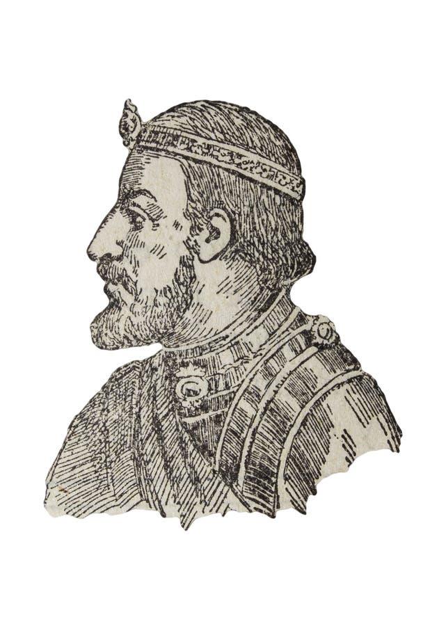 Ramon Berenguer III, count of Barcelona, Girona, and Ausona from 1086 to 1131. Badajoz, Spain - Jan 7th, 2019: Ramon Berenguer III, count of Barcelona, Girona vector illustration