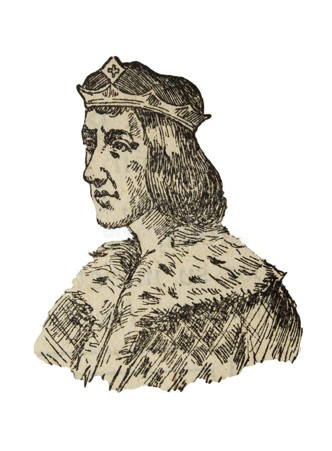 Ramon Berenguer IV, count of Barcelona, Girona, and Ausona from 1131 to 1162. Badajoz, Spain - Jan 6th, 2019: Ramon Berenguer IV, count of Barcelona, Girona, and royalty free illustration
