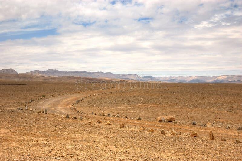 Ramon Canyon trek, Israel stock photo