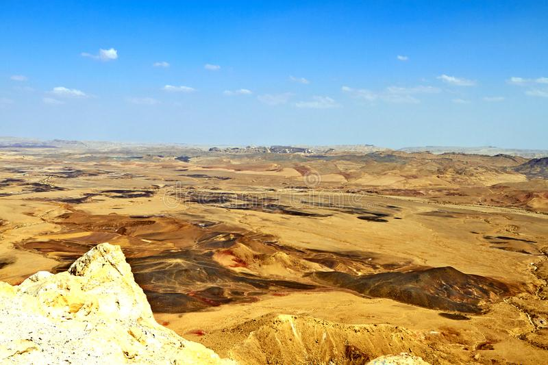 The Ramon Crater in Israel Negev Desert. Is the worlds largest erosion crater or makhtesh. September 2018 old building abu statue temple architecture monument royalty free stock photos