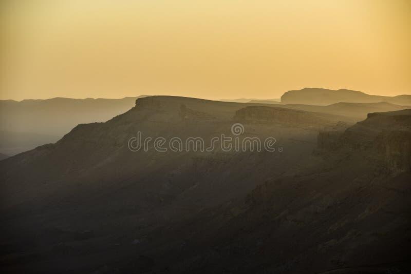 Ramon krater krawędź obraz stock