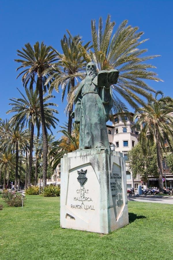 Ramon Llull-standbeeld royalty-vrije stock foto's