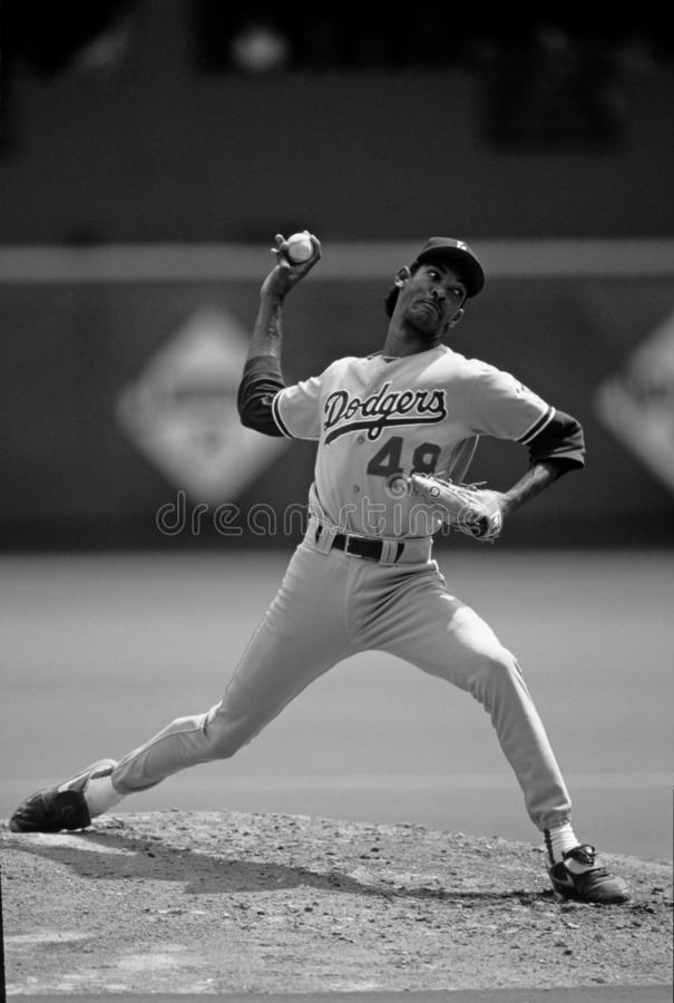 Ramon Martinez Los Angeles Dodgers immagine stock