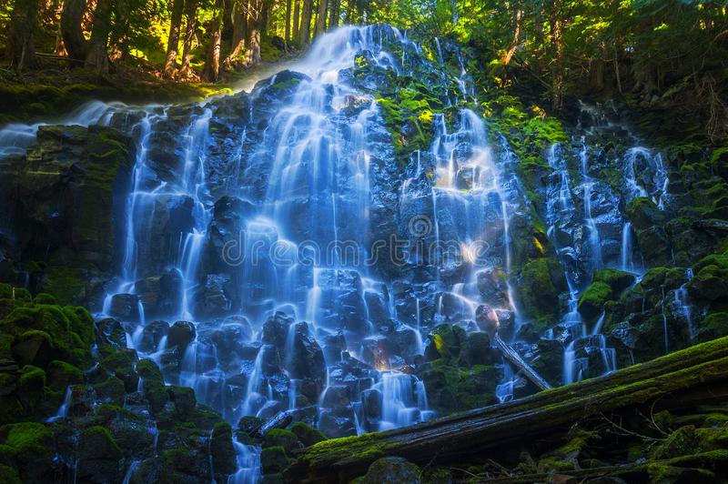 Ramona Waterfalls In Mt Hood National Forest images stock