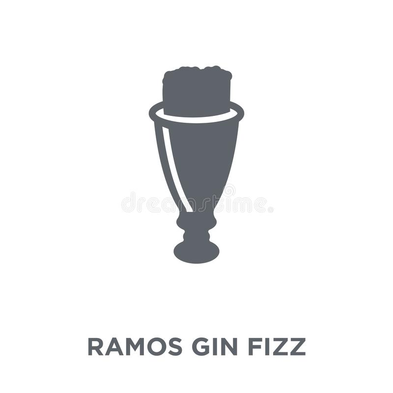 Ramos dżinu Fizz ikona od napojów inkasowych royalty ilustracja