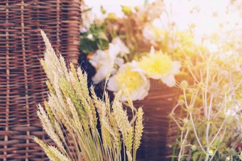 Ramos de las flores salvajes imagen de archivo
