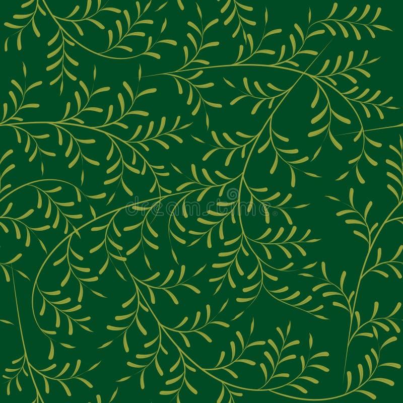 Ramos de oliveira de Seemless ilustração stock