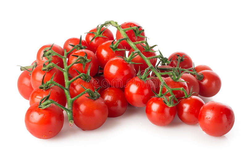 Ramos de tomates de cereja fotografia de stock