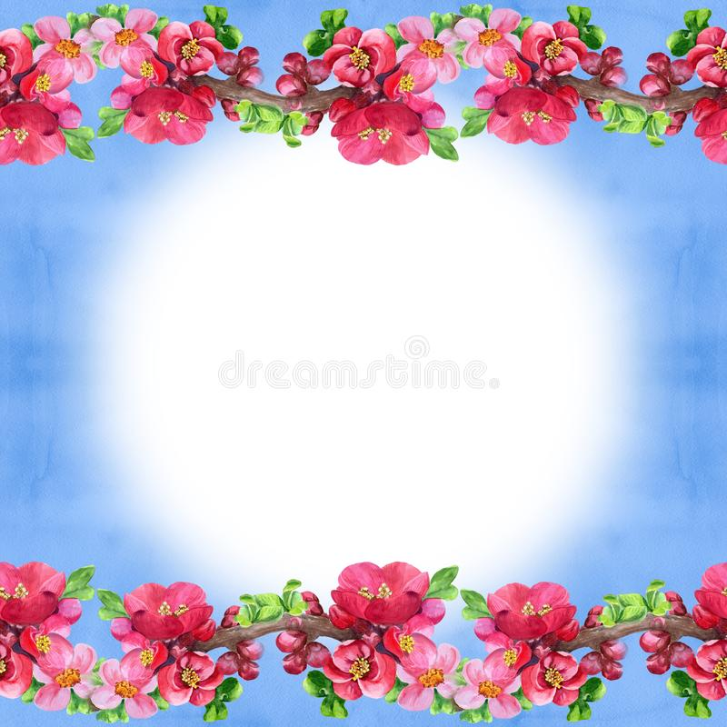 Ramos de uma árvore de florescência Teste padrão sem emenda wallpaper Use materiais impressos, sinais, cartazes, cartão, empacota ilustração do vetor