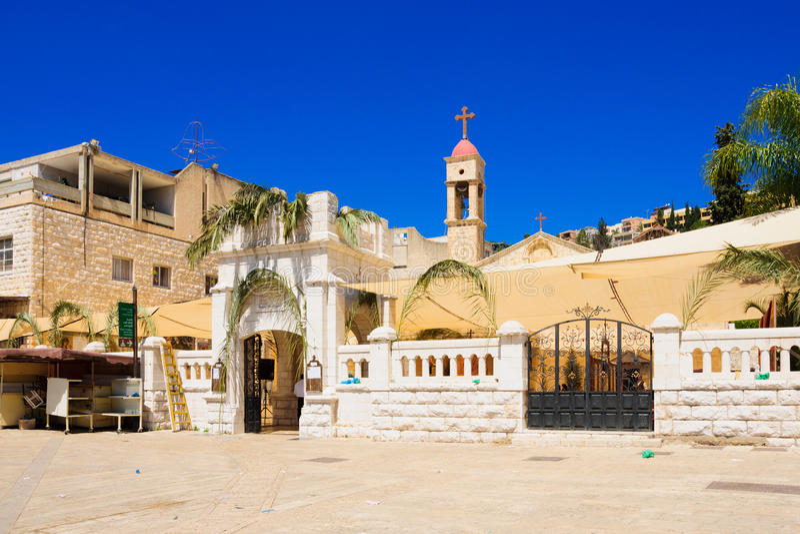 Ramos Domingo ortodoxo en Nazaret fotografía de archivo libre de regalías