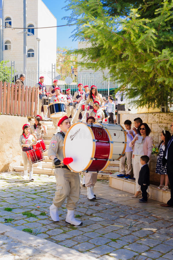 Ramos Domingo ortodoxo en Nazaret imágenes de archivo libres de regalías