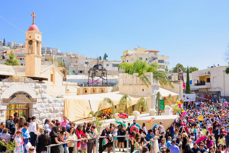 Ramos Domingo ortodoxo en Nazaret imagen de archivo