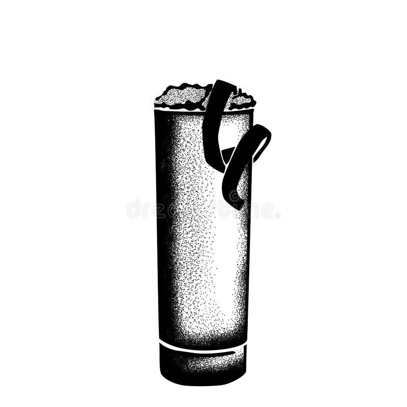 Ramos Gin Fizz Hand Drawn Sketch historischen New- Orleanscocktails lizenzfreie stockfotos
