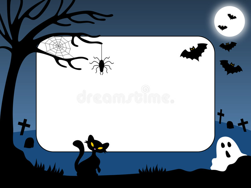 ramowa 1 Halloween zdjęcie ilustracja wektor