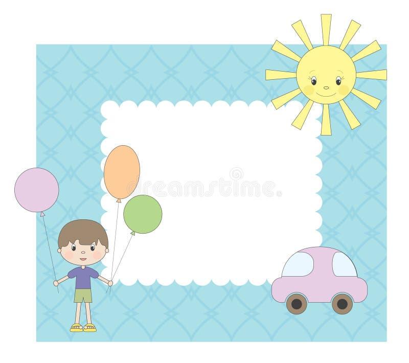 ramowa chłopiec fotografia ilustracja wektor