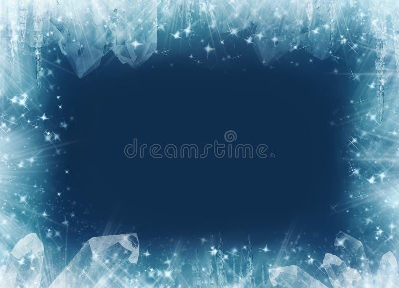 ramowa fantazi zima ilustracji