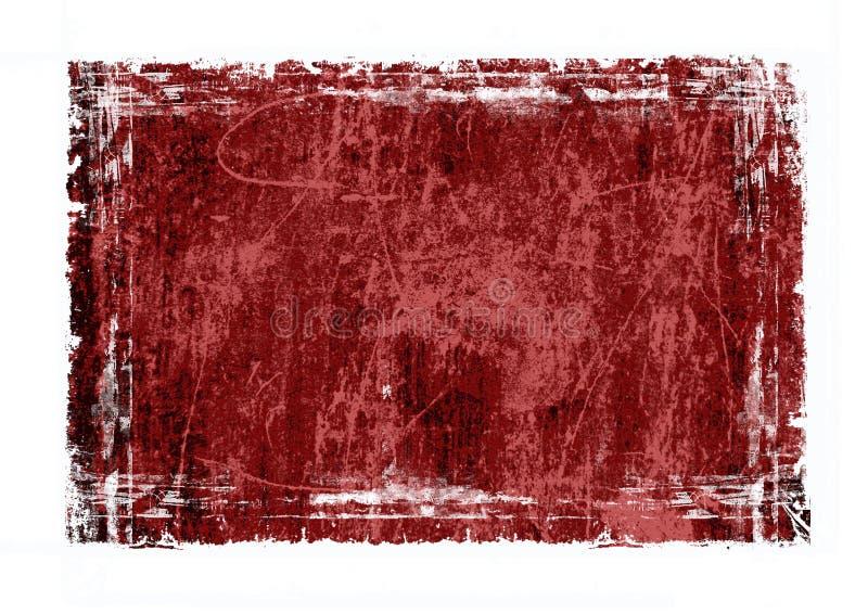 ramowa grunge czerwony ilustracja wektor