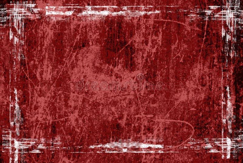 ramowa grunge czerwony ilustracji