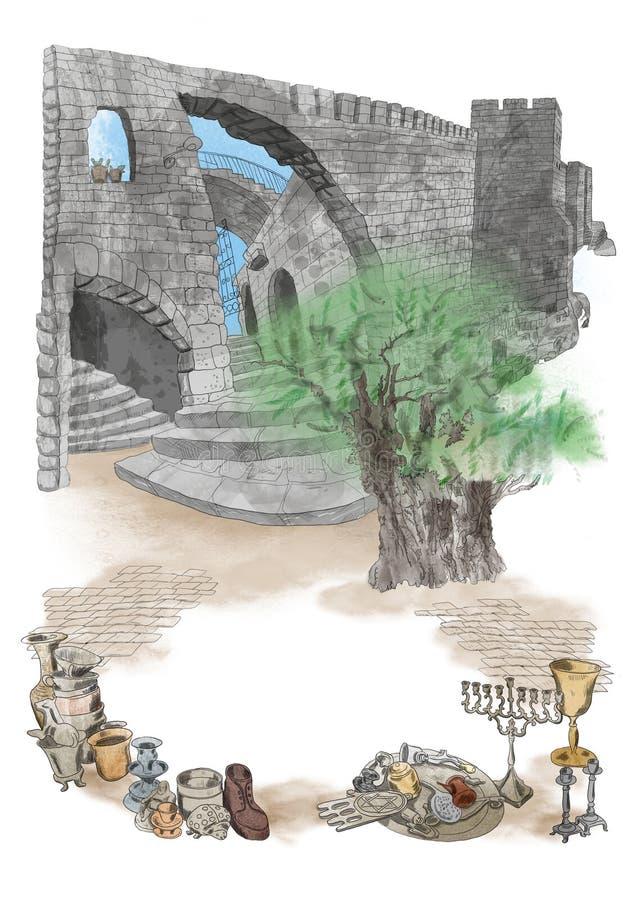 Ramowa Izrael architektura, przedmioty i ilustracji