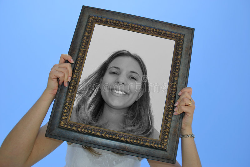 Ramowa Kobieta Fotografia Stock