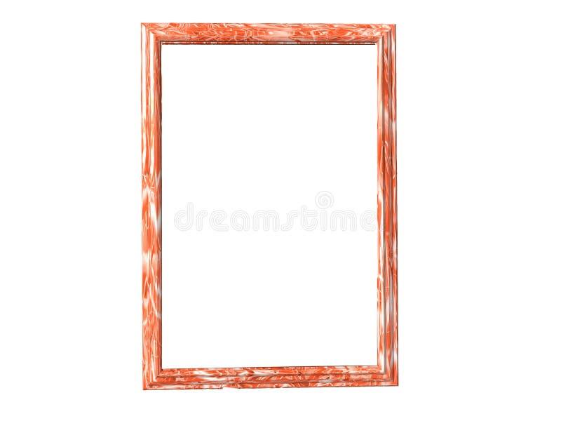 ramowa marmurowa pomarańcze ilustracja wektor
