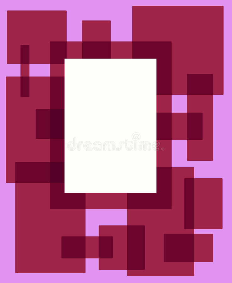 Ramowa Różowa Prostokąta Czerwony Zdjęcia Royalty Free