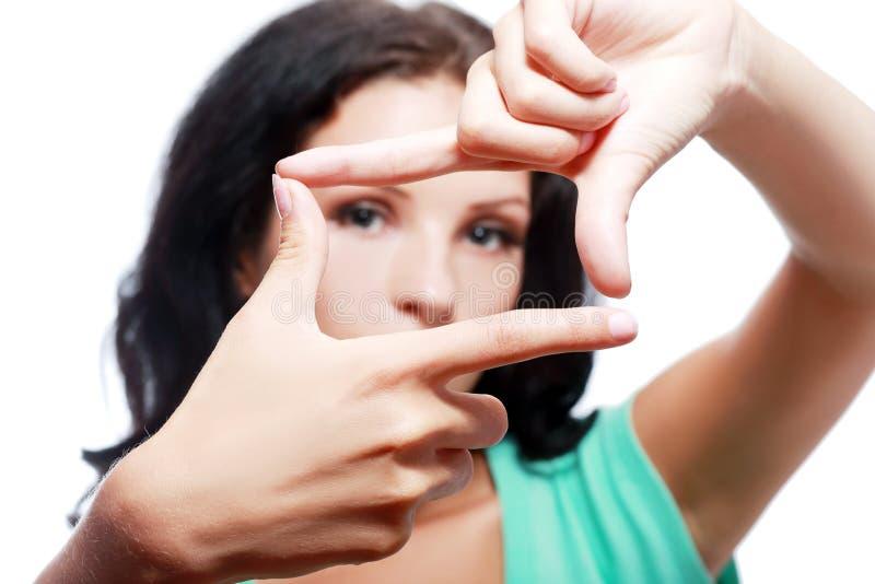 ramowa robi kobieta fotografia stock