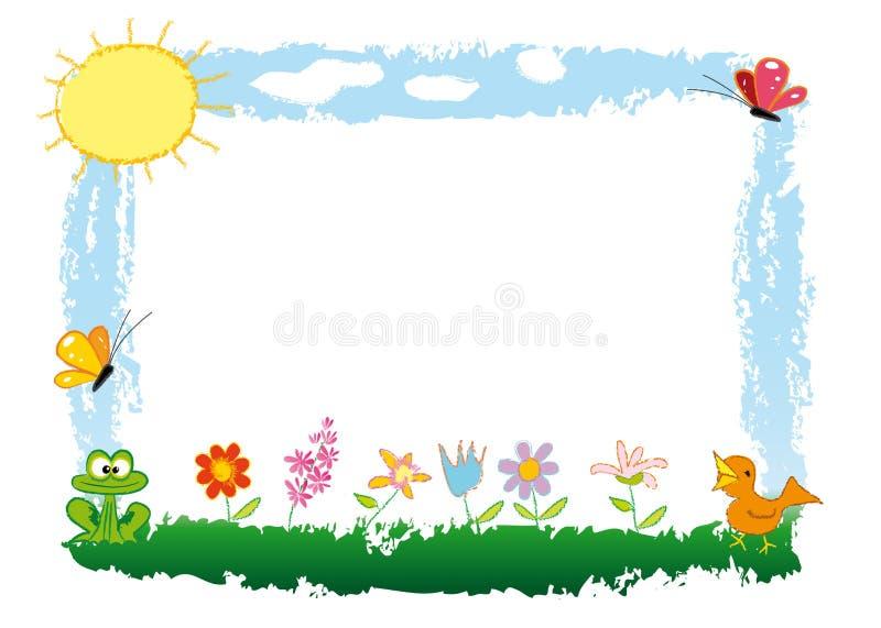 ramowa wiosna ilustracja wektor