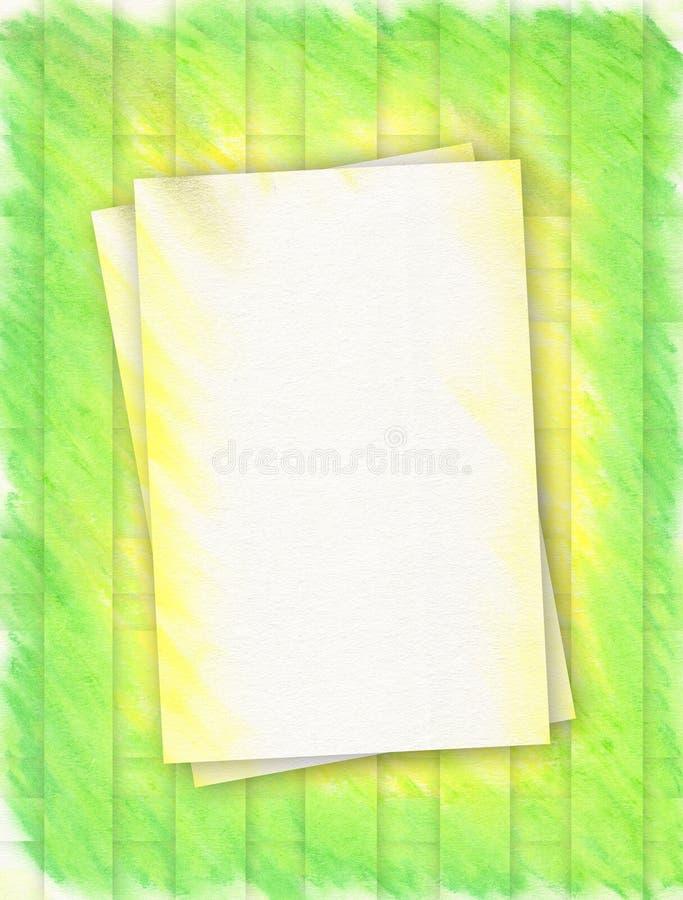 Download Ramowa złoto green ilustracji. Ilustracja złożonej z papiery - 142873