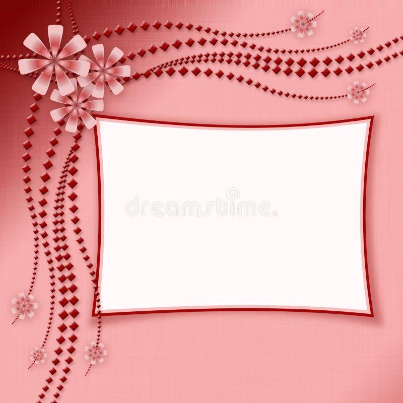 ramowa zdjęcia ornamentu kwiat ilustracja wektor