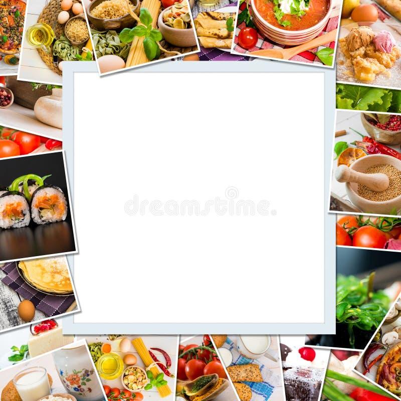 Ramowe fotografie jedzenie obraz stock