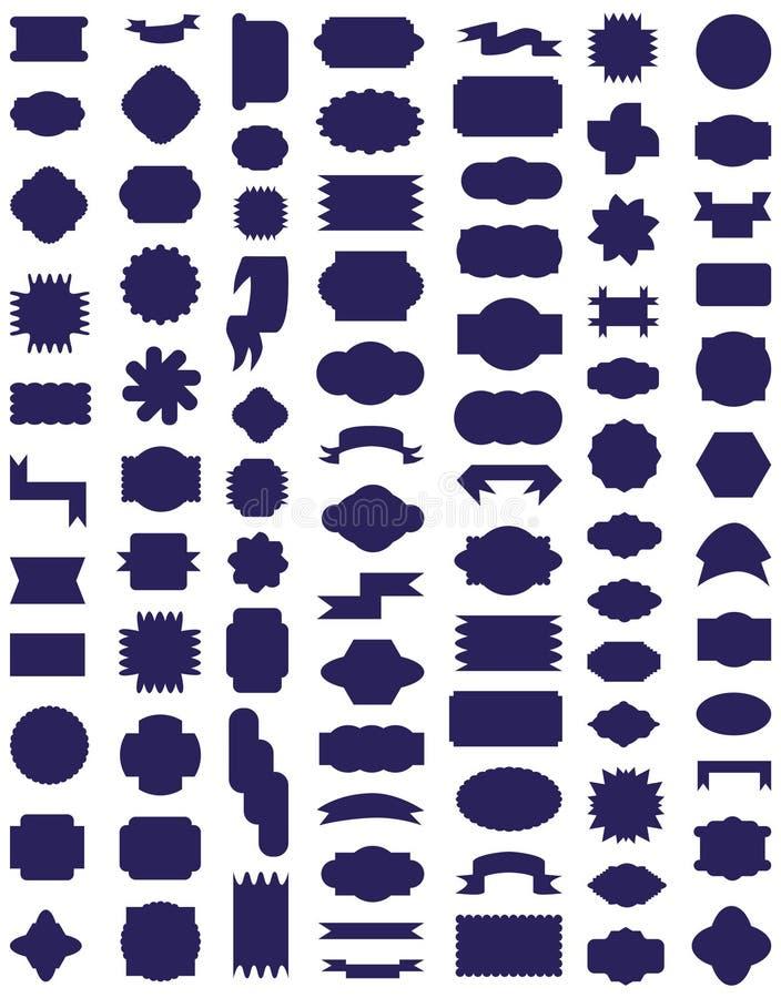 Ramowe ikony na bielu ilustracja wektor