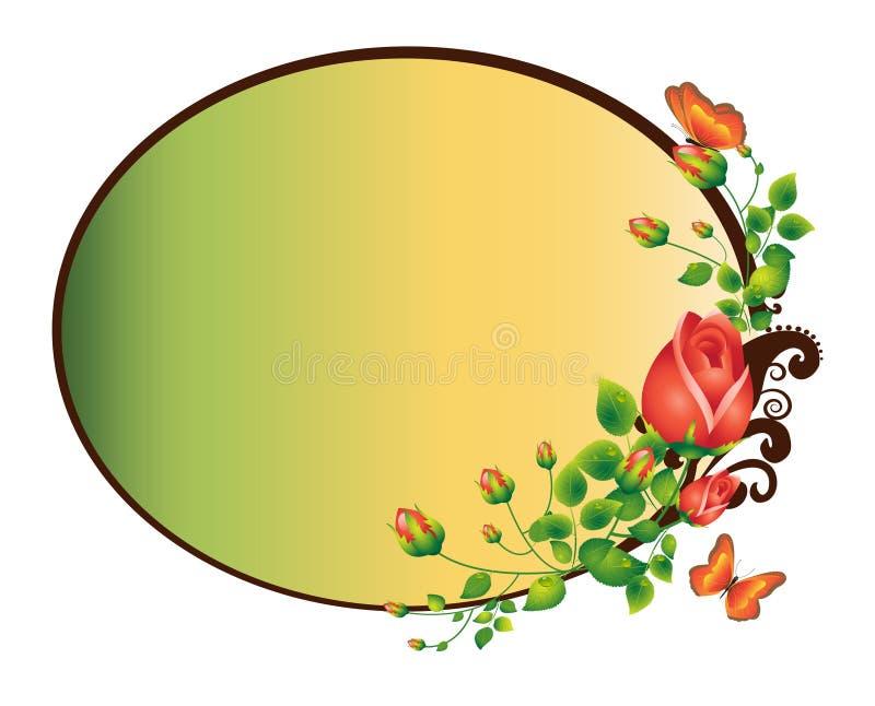ramowe róże ilustracji