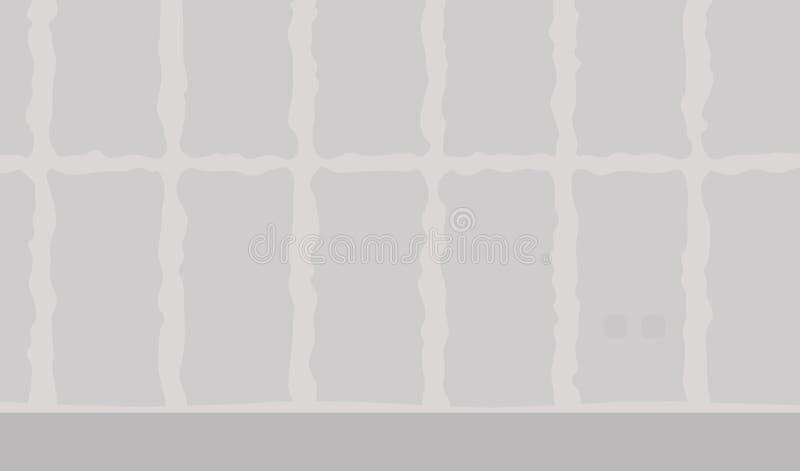 Ramowego domu wnętrze z skończonym drywall kasetonuje instalation Domowy przemodelowywać ilustracja wektor