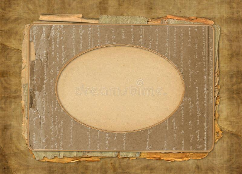 ramowego grunge stary obrazka portret obraz stock
