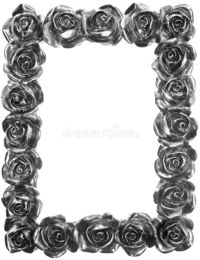 ramowego metalu ozdobny róży srebro fotografia stock