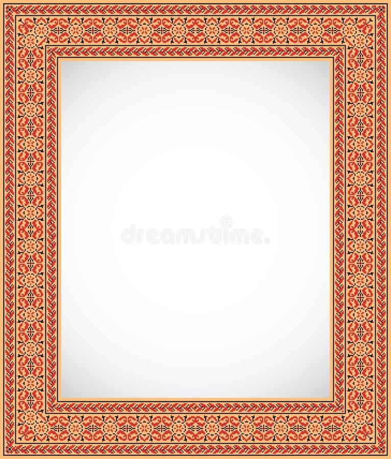 ramowego ornamentu stylu ukraiński vertical ilustracji