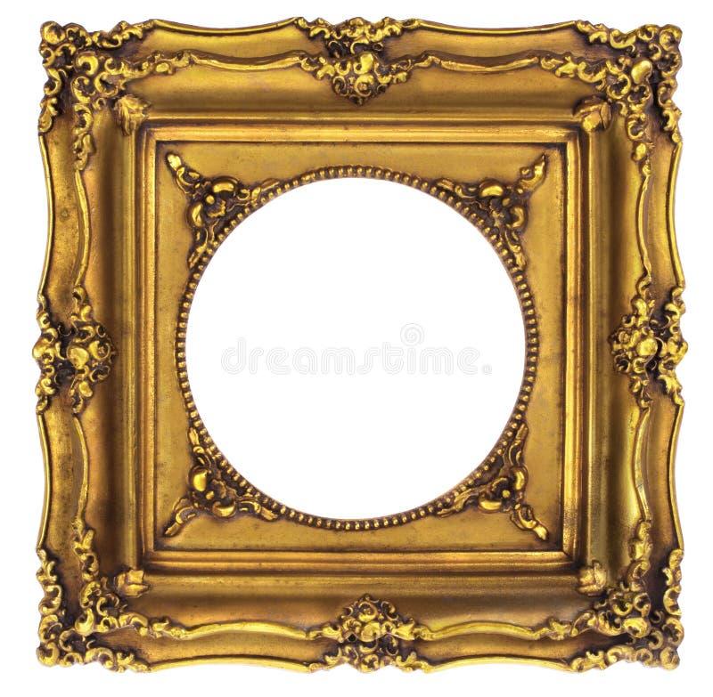 ramowego złota odosobniony obrazka biel obraz royalty free