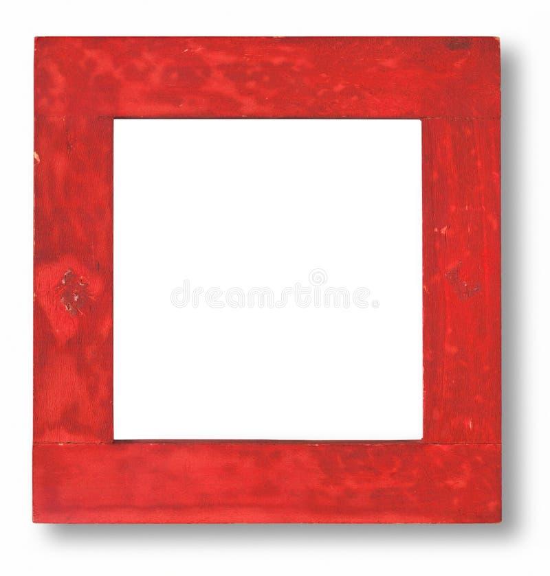 ramowej czerwieni pobrudzony drewno fotografia royalty free