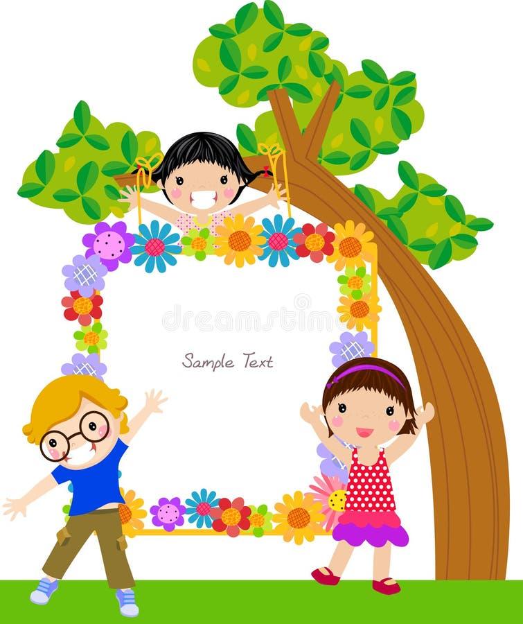 ramowi dzieciaki ilustracja wektor