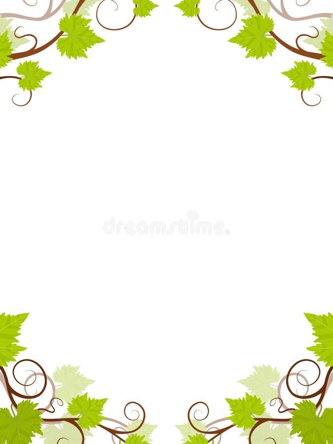 ramowi gronowi winogrady ilustracja wektor