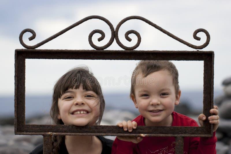 ramowi rodzeństwa zdjęcie royalty free