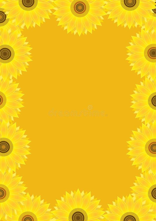ramowi tło słoneczniki ilustracji