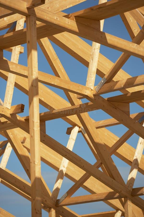 ramowy dachowy drewniany obrazy stock