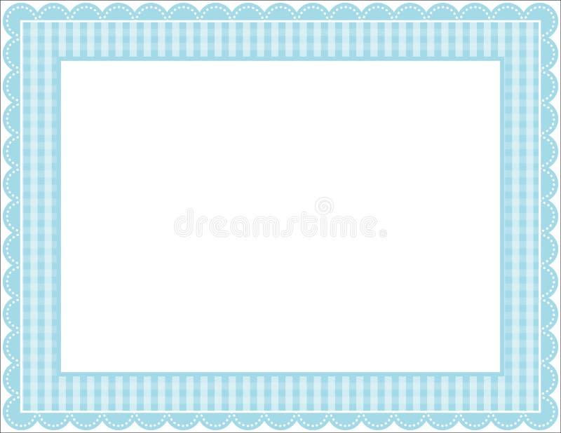 Download Ramowy gingham ilustracja wektor. Obraz złożonej z materiał - 19655200