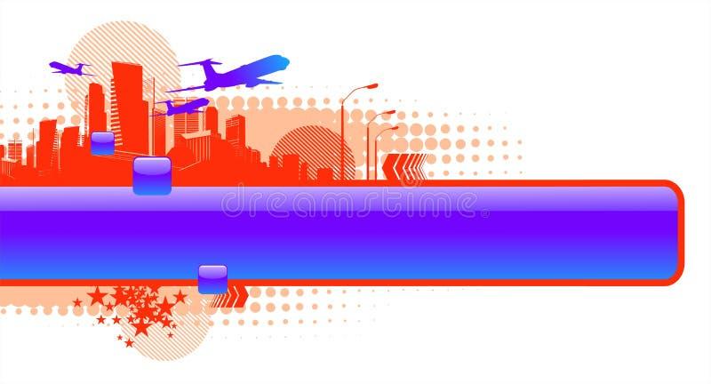 ramowy glansowany miastowy ilustracji